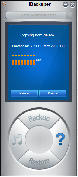 iBackuper is an iPod Access and Transfer Tool for Windows